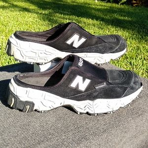New Balance 801 Slip-ons Black White Sz 9